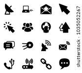 solid vector icon set  ... | Shutterstock .eps vector #1035052267