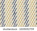 geometric 3d triangle pattern | Shutterstock .eps vector #1035052759