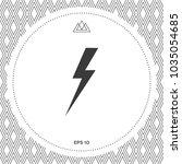 thunderstorm lightning icon | Shutterstock .eps vector #1035054685