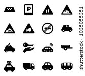 solid vector icon set   taxi...   Shutterstock .eps vector #1035055351