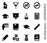 solid vector icon set   lab... | Shutterstock .eps vector #1035056941