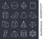 geometric shapes collection ... | Shutterstock .eps vector #1035057277