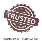 trusted brand stamp | Shutterstock .eps vector #1035061561