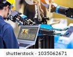 industry 4.0 robot concept ... | Shutterstock . vector #1035062671