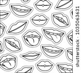 sensuality lips with tongue out ... | Shutterstock .eps vector #1035063631