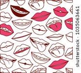 sensuality lips pattern... | Shutterstock .eps vector #1035063661
