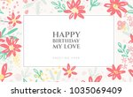 background of flowers... | Shutterstock .eps vector #1035069409
