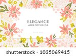 background of flowers... | Shutterstock .eps vector #1035069415