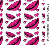 sensuality lips and hearts... | Shutterstock .eps vector #1035072571