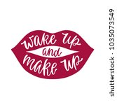 wake up and make up....   Shutterstock .eps vector #1035073549