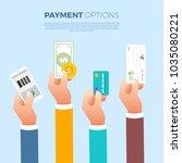 flat design concept payment.... | Shutterstock .eps vector #1035080221