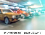 abstract blurred cars parking... | Shutterstock . vector #1035081247