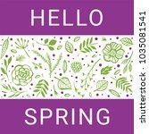 hello spring. green flower... | Shutterstock .eps vector #1035081541