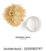 creative layout made of oatmeal ... | Shutterstock . vector #1035083797