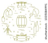 winemaking  the production and... | Shutterstock .eps vector #1035084991