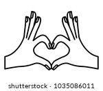 hands forming a heart with... | Shutterstock .eps vector #1035086011