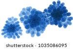 blue microorganisms. 3d... | Shutterstock . vector #1035086095