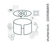 virtual reality technology set... | Shutterstock .eps vector #1035086845