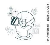 virtual reality technology set... | Shutterstock .eps vector #1035087295