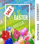 easter sale poster or banner... | Shutterstock .eps vector #1035088957