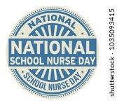 national school nurse day ... | Shutterstock .eps vector #1035093415