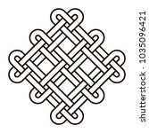 celtic knot geometric ancient... | Shutterstock .eps vector #1035096421