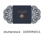 vector wedding card laser cut... | Shutterstock .eps vector #1035096511