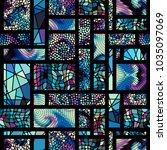 seamless background. geometric... | Shutterstock .eps vector #1035097069