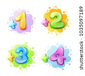 vector cartoon kids age limit...   Shutterstock .eps vector #1035097189