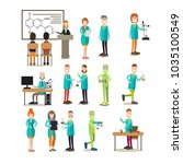 group of science people icon... | Shutterstock . vector #1035100549