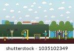 illustration of of strong... | Shutterstock . vector #1035102349