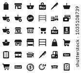 flat vector icon set   pen... | Shutterstock .eps vector #1035108739