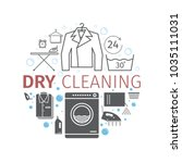 dry cleaning services. banner. | Shutterstock . vector #1035111031
