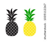pineapple fashion vector... | Shutterstock .eps vector #1035112267