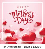 happy mother's day poster... | Shutterstock .eps vector #1035113299