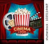 online cinema banner vector.... | Shutterstock .eps vector #1035114469