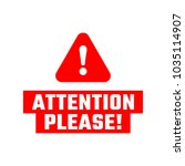 attention please badge. red...   Shutterstock .eps vector #1035114907