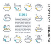 line illustration of dishes.... | Shutterstock .eps vector #1035115789