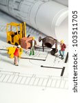 tiny toy model figures of... | Shutterstock . vector #103511705