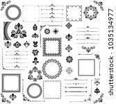 vintage set of vector... | Shutterstock .eps vector #1035134977