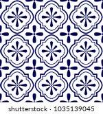 ceramic tile pattern vector ... | Shutterstock .eps vector #1035139045