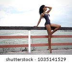 beautiful  sexy and attractive... | Shutterstock . vector #1035141529