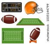 american football realistic...   Shutterstock .eps vector #1035144799