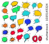 set of empty colorful comic... | Shutterstock .eps vector #1035145324
