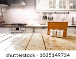 table background in kitchen and ... | Shutterstock . vector #1035149734