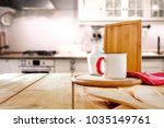 table background in kitchen and ... | Shutterstock . vector #1035149761