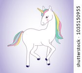 unicorn isolated on background. ... | Shutterstock .eps vector #1035150955