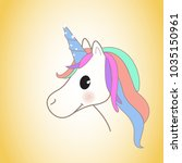 unicorn isolated on background. ... | Shutterstock .eps vector #1035150961