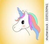 unicorn isolated on background. ... | Shutterstock .eps vector #1035150961