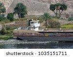 Old River Barge Abandoned On...